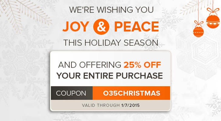 25% OFF Entire Purchase this Holiday Season