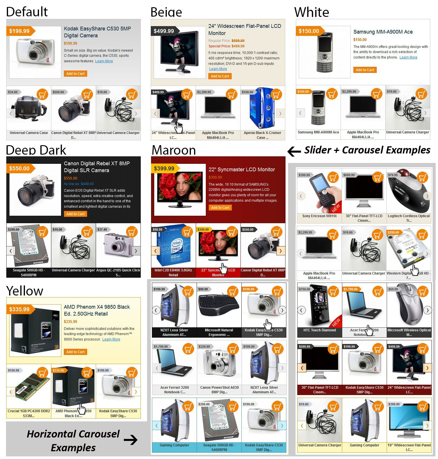 Slider and Carousel Examples of Magento Featured Products Slider