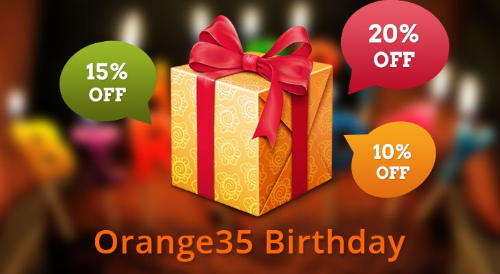 Orange35 Anniversary Discounts!