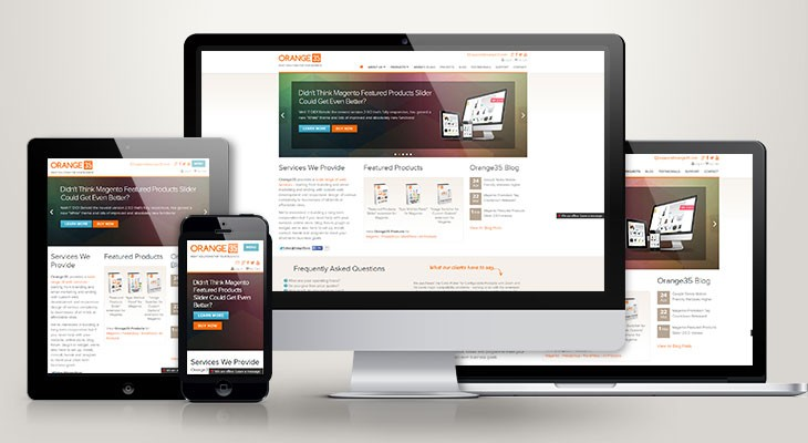 Responsive Design on different devices