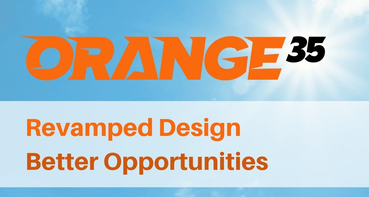 Now Orange35 Site Looks Fresh and Revamped