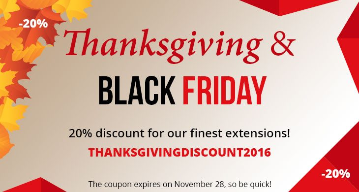 Thanksgiving & Black Friday sale